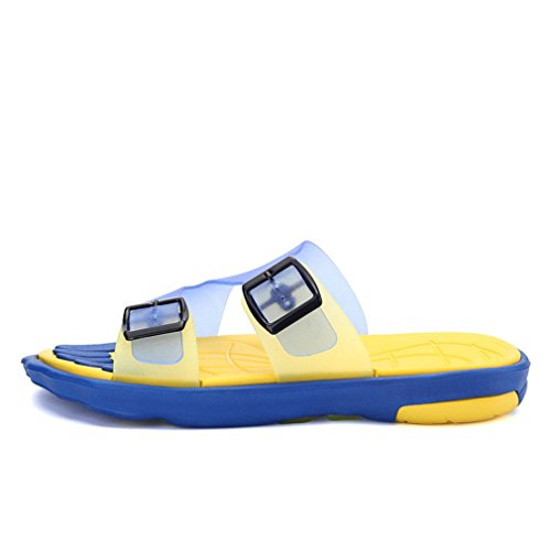 NEW Man Summer Camouflage Slipper Beach Shoes Casual Buckle Slippers yellow 10 by BEACHR