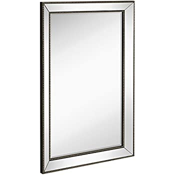 Amazon Com Large Flat Framed Wall Mirror With 2 Inch Edge
