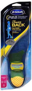 Dr. Scholl's P.R.O. Pain Relief Orthotics for Lower Back - Women's (Pack of 2)
