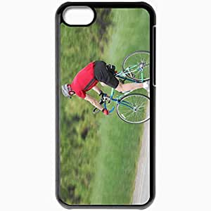 Personalized iPhone 5C Cell phone Case/Cover Skin Bicycle Black