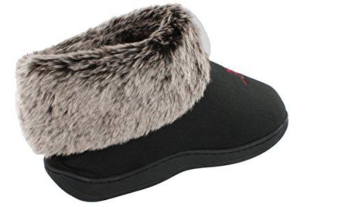 Comfy Feet Happy Feet Mens and Womens NCAA College Faux Sheepskin Furry Slippers Alabama Crimson Tide IE34b