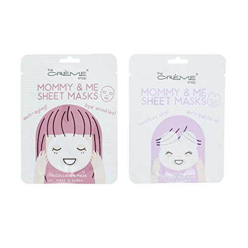 The Crème Shop - Mommy & Me Sheet Masks (4 Masks Set)