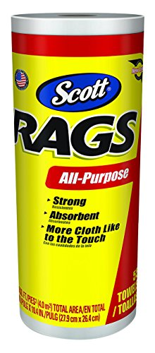 Kimberly Clark 55 Count White Scott Rags  75230 Paint Rags