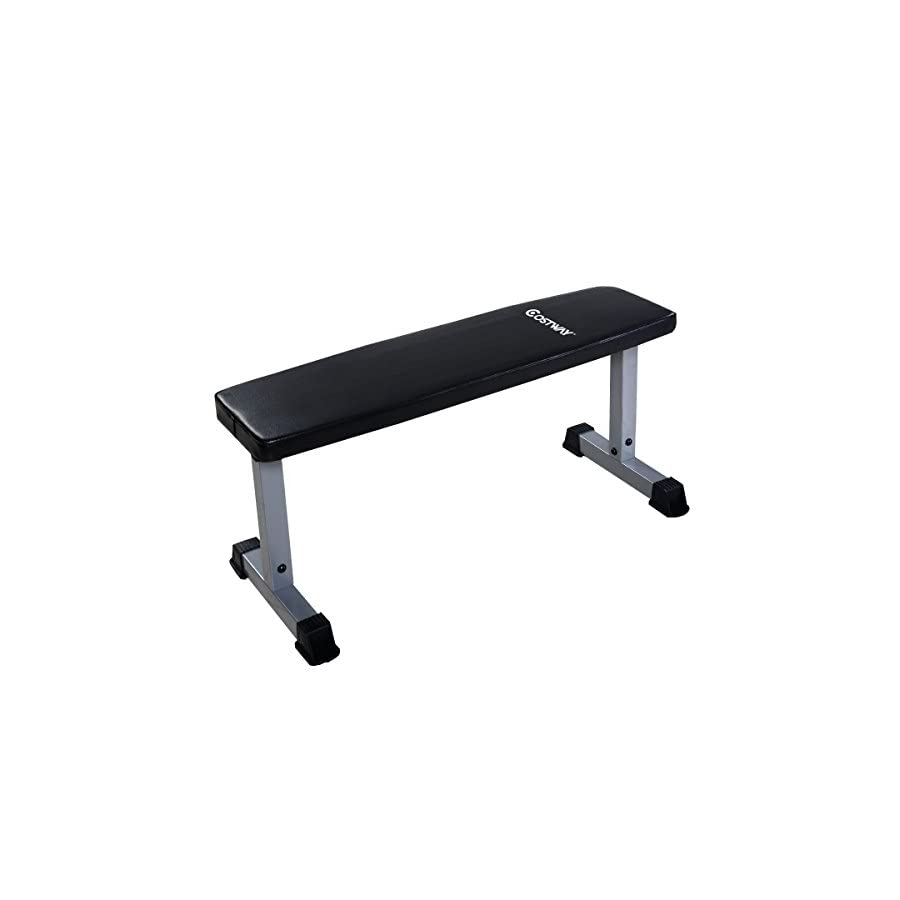 "Goplus Weight Bench Sit Up Crunch Board Abdominal Fitness AB Exercise Flat Equipment (42"" x 19"" x 19"")"