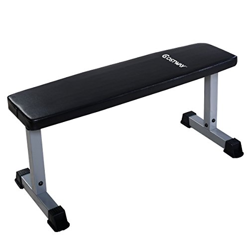 GOPLUS Weight Bench Sit Up Crunch Board Abdominal Fitness AB Exercise Flat Equipment 42 x 19 x 19