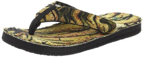 Sanuk Men's Roots Cozy Flip FlopTiger8 M US (Tiger Flip Sandals)
