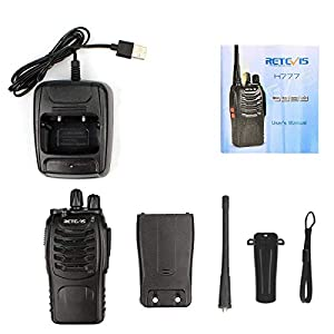 Retevis H-777 Two Way Radio Single Band UHF Rechargeable