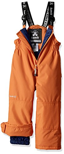 Kamik Winter Apparel Winkie solid Pants, Orange, 4 by Kamik Winter Apparel