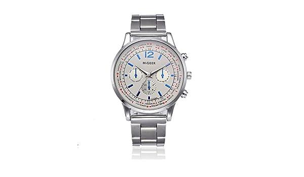 Amazon.com: Auwer Mens Watch, Auwer Fashion Watch Bracelet Crystal Stainless Steel Analog Quartz Wristwatch Simple Clock (B): Watches