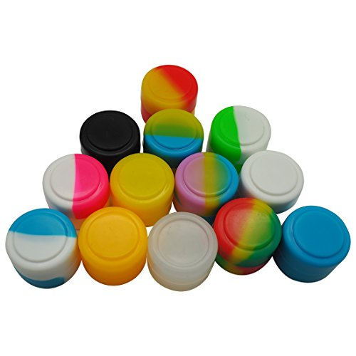 Gentcy Silicone 2ml 500pcs Containers Silicone Storage Jar Seals Oil Wax Concentrate 13color by Gentcy Silicone (Image #4)