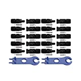 NUZAMAS New 10 Sets of MC4 Solar Panel Connectors Male Female for PV Solar Panel Cable & 1 Pair of Solar MC4 Tool Spanner Wrenches for Connectors Assembly