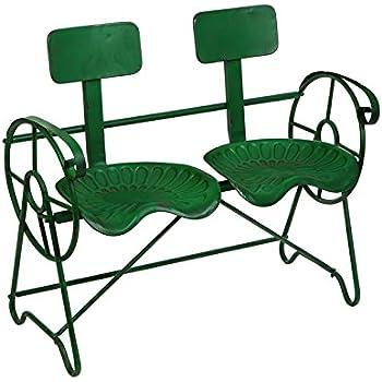 Amazon Com Me Green Metal Farm Tractor Seat Outdoor Bench