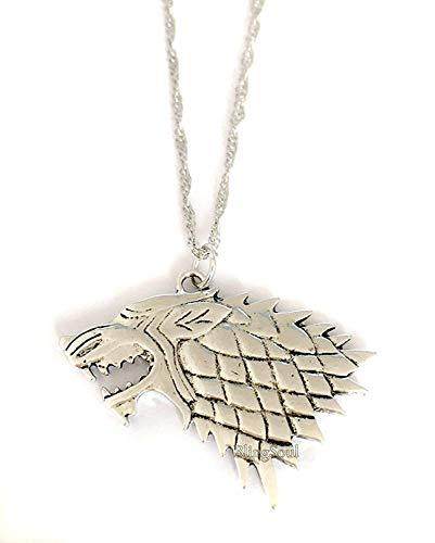 Game Stark Got Necklace - Sigil Direwolf House Stark Jewelry Merchandise Women -