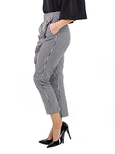 Blanc Femme noir Pantalon Gaelle Blanc xOtwSZ