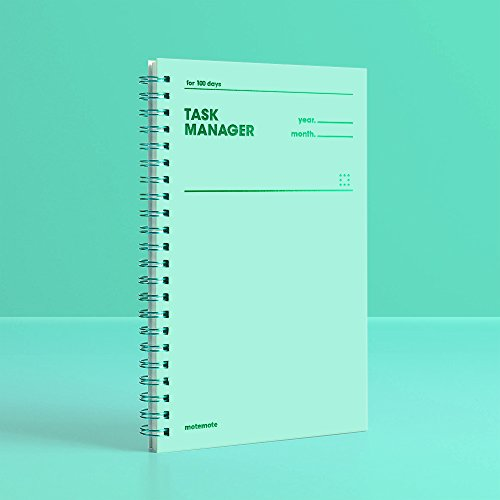 [MOTEMOTE] Task Manager 100Days Color Chip (Greenery) / study planner / planner