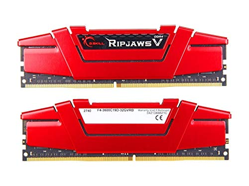 G.SKILL 32GB (2 x 16GB) Ripjaws V Series DDR4 PC4-28800 3600MHz Desktop Memory Model F4-3600C19D-32GVRB