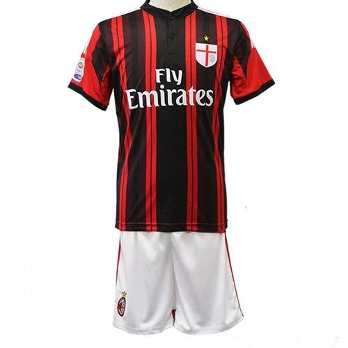Youth AC Milan Home Soccer Jersey Shirts and Shorts Set Home Football Shirts (YL)