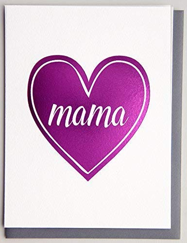 (Magenta Foil Mama Card Mom Birthday Thank You Mother's Day)