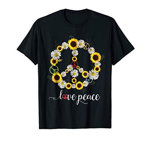 PEACE SIGN LOVE T Shirt 60s 70s Tie Die Hippie Costume Shirt