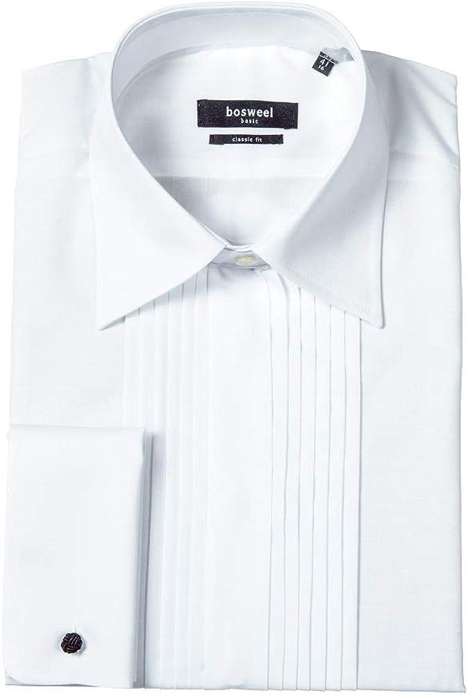 bosweel Smoking Camisa ribete blanco normal Cuello de puro algodón boda anlaß Blanco 8-9Años: Amazon.es: Ropa y accesorios