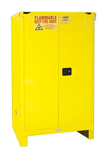 Durham 1090SL-50 Flammable Safety Cabinet, 2 Self Closing Door with Legs, 43