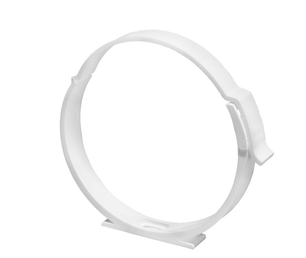 tube Collier de serrage Support pour tuyau ABS fi 100/mm Extracteur Ventilation pour tube rond