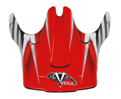 Vega Viper Junior Off-Road Helmet Visor with Kraze Graphic  (Red)