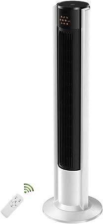 Opinión sobre FHDF Ventilador de Torre silencioso oscilante con Mando a Distancia, Portátil Bladeless aspas Tower Fans 3 velocidades 3 Modos 7H Temporizadorr para El Hogar Y La Oficina, H105cm (40W, Bianco)