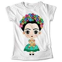 Blusa Frida Kahlo Colores Playera Estampado Verde 067