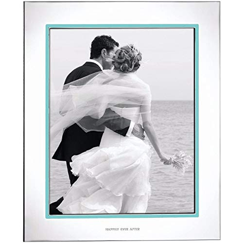 - Kate Spade New York Take The Cake 8x10 Picture Frame, Silver-plated Metal and Aqua Enamel