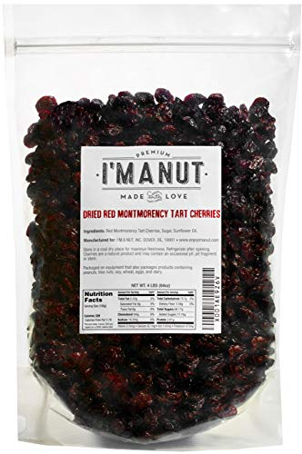 Dried Cherries 4 LB (=64oz) Resealable Bag, Tart