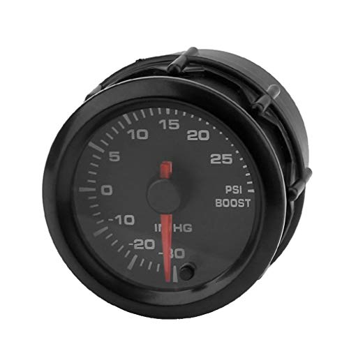 Morelyfish 12V Universal Car Round Boost Pressure Gauge: Amazon.co.uk: Electronics