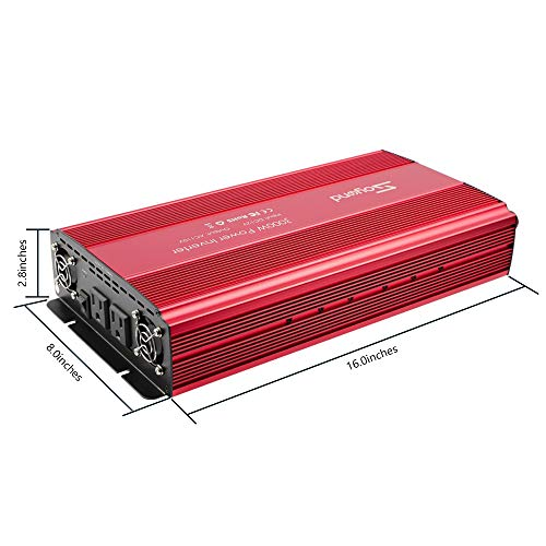 soyond 3000W Power Inverter for Home Car RV with AC Outlets Converter DC 12V in to AC 110V Out by soyond (Image #1)