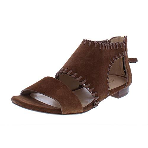 (Michael Michael Kors Womens Broderick Suede Flat Sandals Brown 6.5 Medium)