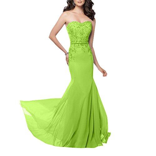 Partykleider Abendkleider Apfel Glamour Chiffon La Kleider mit  Festlichkleider Langes Perlen Figurbetont Gruen Standsamt mia Ballkleider  ... 5cf11993c0