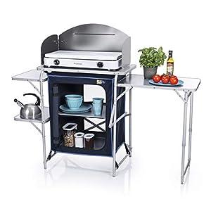 CAMPART TRAVEL Mobile cucina da esterni KI-0730 Ibiza – Con paravento – Varie soluzioni per riporre i tuoi oggetti 1 spesavip