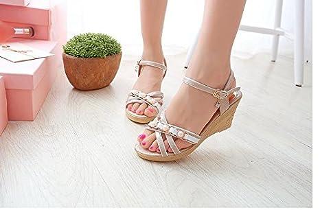 7354d2d967947 MEIREN 2016 Summer fashion Sandals Women s wedges platform rhinestone  buckle flat-bottom skid students in