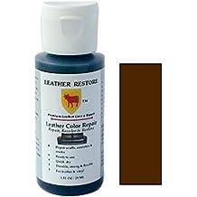 Leather Restore Leather Color Repair, DARK BROWN, 1 OZ Bottle - Repair, Recolor & Restore Leather & Vinyl Couch, Furniture, Auto Interior, Couch, Car Seats, Sofa