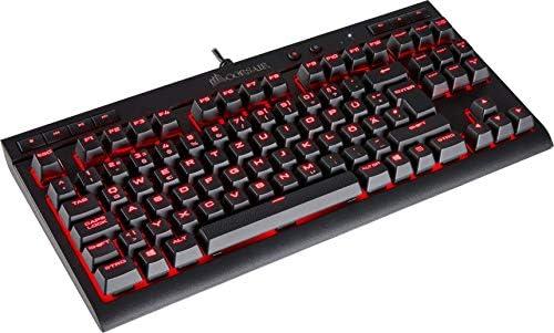 Corsair K63 Clavier USB QWERTZ Allemand Noir - Claviers (avec Fil, USB, Clavier mécanique, QWERTZ, LED, Noir)
