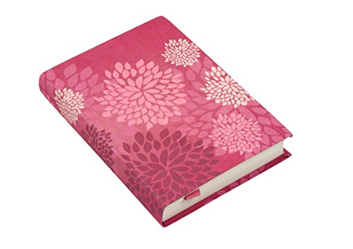 Grandluxe Giardini Fabric Soft A5 Notebook, 192 Sheets, 4.1 x 5.8-Inches,Pink (313760)