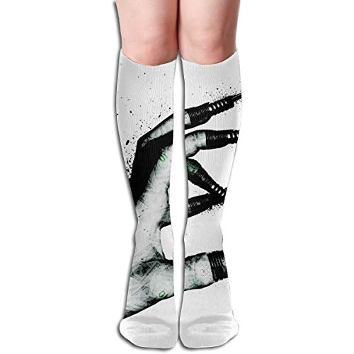 (19.68 Inch Compression Socks Hand Line Finger High Boots Stockings Long Hose for Yoga Walking for Women Man)