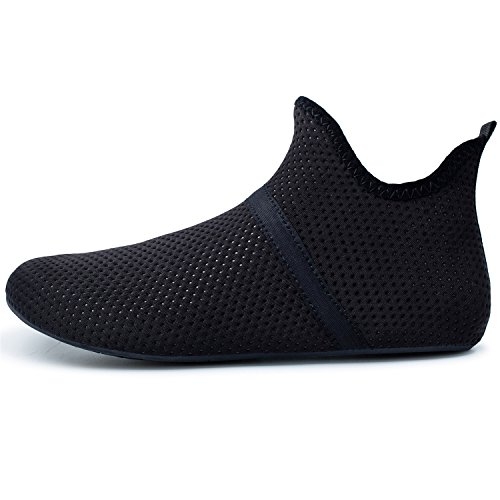 Beach Men Pool Quick Yoga Dry Barefoot Socks Surf for Barerun Shoes Aqua Water Women Sports for Swim Black Mid avROOqy
