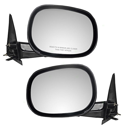 Driver and Passenger Power Side View Mirrors Replacement for Dodge SUV Pickup Truck 55154845AF 55154844AD AutoAndArt