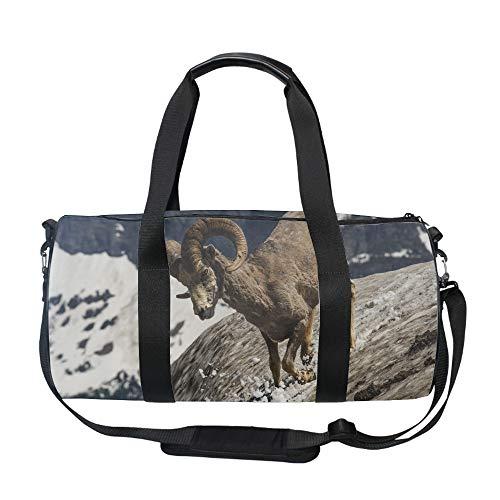 (Weekend Travel Bag Ladies Longhorn Sheep Duffle Tote Bags Overnight Bag)