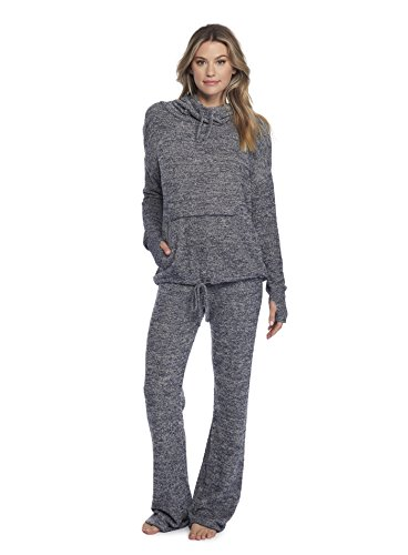 Barefoot Dreams CozyChic Lite Pebble Beach Pullover Heathered Indigo/Stone by Barefoot Dreams