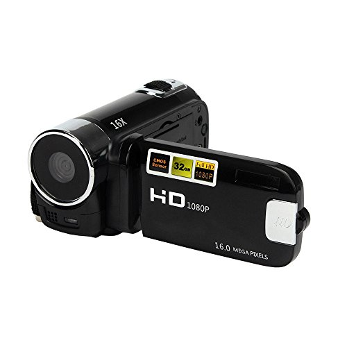 (OUYAWEI CE Camera Camcorders, 16MP High Definition Digital Video Camcorder 1080P 2.7 Inches TFT LCD Screen 16X Zoom Camera Recorder Black American Standard)