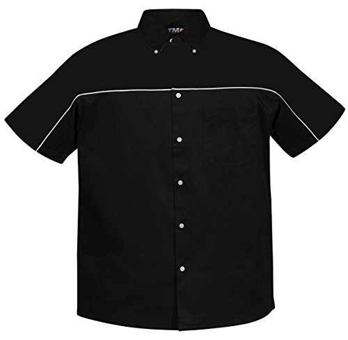 (Tri-mountain TMR 60/40 twill shirt with piping. 908 - BLACK_XL )