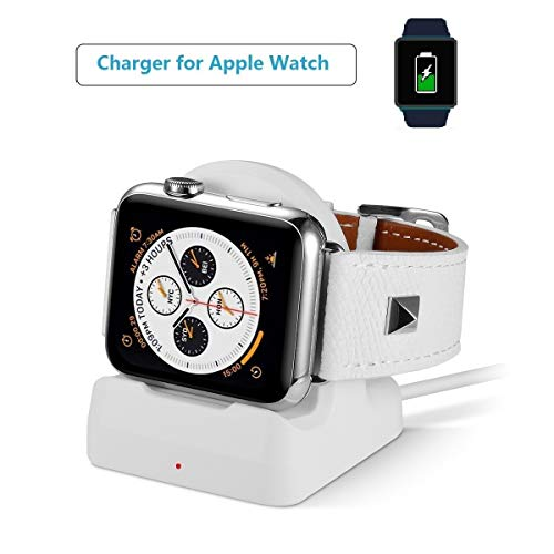 Youtec Compatible with Apple Watch Charger, iWatch Charging Cable, 2 in 1 iWatch Charger Stand Pad 1M/ 3.3ft Cable Compatible with Apple Watch Series 3/ 2/ 1, All iWatch 38mm 42mm