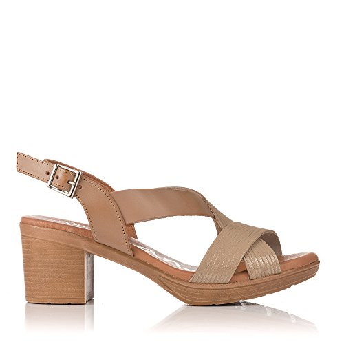 Sandals Medio Mujer My Taupe 3894 Oh Tiras Sandalia Uq5FO