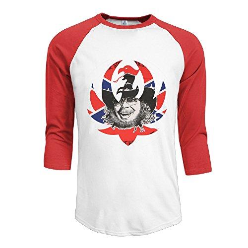 r-hot-mens-hank-williams-jr-logo-jersey-baseball-t-shirt-neck-cotton-blend-3-4-red